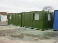 32ft x 10ft Anti Vandal Portable Cabin Site Office FULLY PAINTED IN STOCK NOW !! shipping container