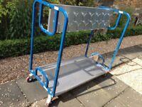 Steel fram coat trolley