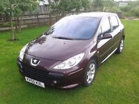 2005 Peugeot 307 110Hdi Low Mileage and Full Service History.