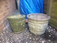 Large concrete planters