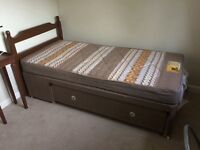 REDUCED Single divan bed and mattress