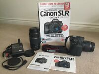 Canon EOS Digital SLR camera with Canon zoom lens 70-300mm