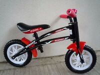"(2096) 10"" RUNNER COOL-1 BALANCE BIKE - Black; Boys Girls Kids Childs; Age: 2-4; Height: 80-100 cm"