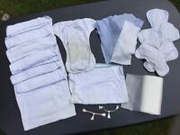Cloth nappies, liners and fasteners