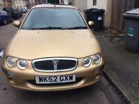 Rover 25 petrol running good 10 months mot