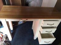 painted oak dressing tabls