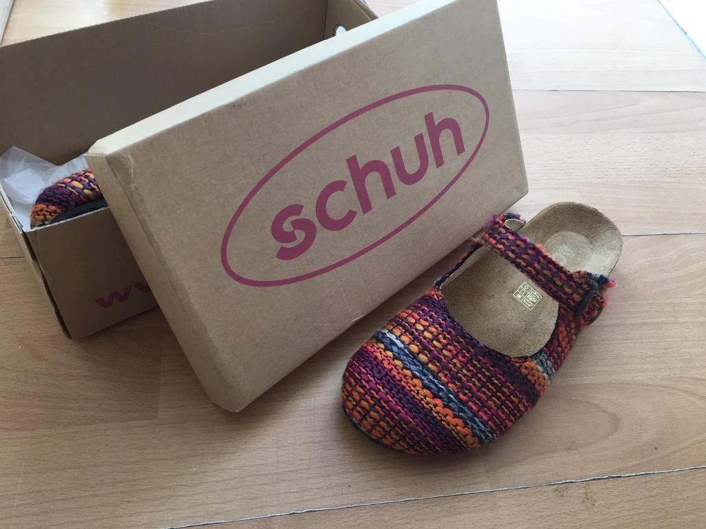 Schuh new fabric size 7 mule