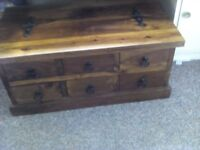 Soild wood storage cabinet