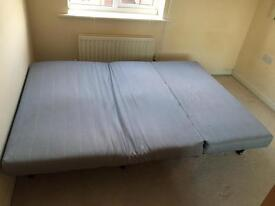 Folding double bed
