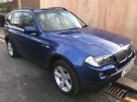 LOW MILEAGE,HPI CLEAR,2008 BMW X3 3.0 DIESEL,FULL SERVICE HISTORY,BEIGE LEATHER INTERIOR,12 MNTH MOT