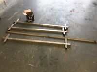 Vw t4 transporter roof rack in stainless steel 3 bar