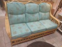 3 Seater wicker sofa