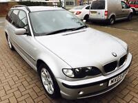 BMW 320d SE TOURING 2003, AUTOMATIC,2.0 Diesel,125K Mileage,F.SRV HSTRY,Cruise Control,2 KEYS,MOT