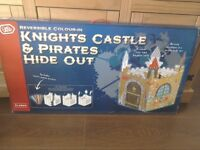 Knights Castle and pirates hideout. Colour your own castle New Boxed measures approx 68 X 68 X 110cm
