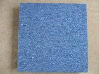Carpet tiles heavy duty in blue qty of 8 500mm x 500mm