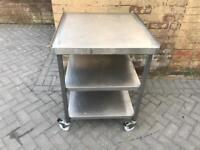 Commercial kitchen table on wheels