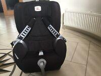 Britax duo plus car seat in black 9-18kg