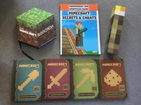 Bundle of Minecraft books & torch light