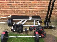 weights bench, weights, bars
