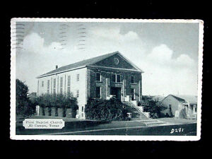 1941 First Baptist Church El Campo TX post card