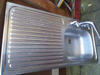 KITCHEN SINK STAINLESS STEEL WITH TAPS
