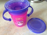 Nuby bottle, cup, strainer