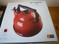 LE CREUSET WHISTLING KETTLE -NEW - BOXED- CERISE
