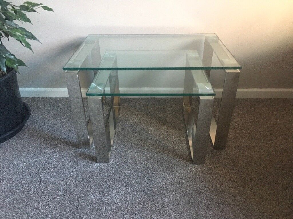 John Lewis Tropez Nest Of Tables Glass Set Of 2 In Yate Bristol Gumtree