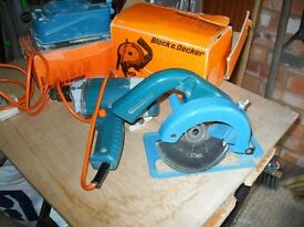 Black and Decker Corded Drill with attachments