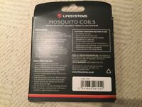 Lifesystems mosquito coils - 2 boxes of 10 with stands
