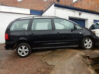 seat alhambra 2008 Reference 2.0 TDI, 7 Seater MPV, 6 Speed, SPARE OR REPAIR