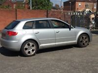 AUDI A3 2005 2.0 FSI SPORT DRIVES WELL SELLING AS SPARES OR REPAIR !! Mot & tax