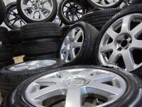 16inch genuine vr6 v6 ALLOY wheels audi golf vw mk4 a3 polo beetle 5x100 bora fabia
