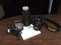 Nikon D60 Digital SLR Camera with Two Lenses