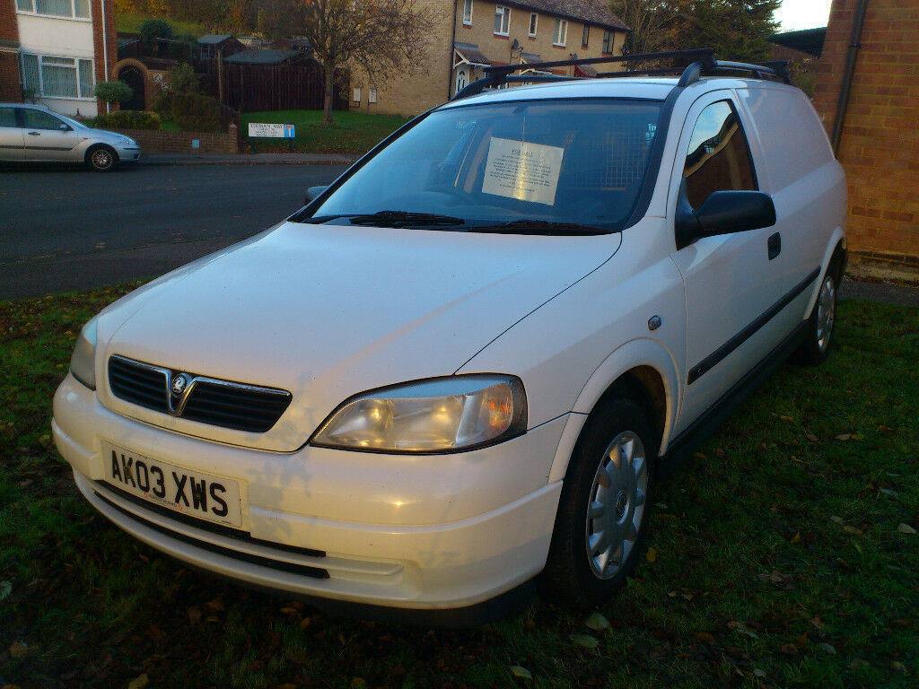 2003 WHITE VAUXHALL ASTRAVAN ( OWNED FOR 10 YEARS FOR SOCIAL USE ONLY )