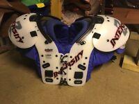 American football Helmet and Pads