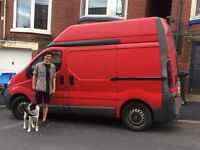 Man (& dog) with van based in Sheffield !