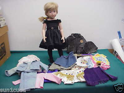 Preowned Magic Attic Allison Doll Blonde hair clothes cowboy Outfit Look