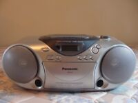 Excellent condition: Panasonic portable stereo system, radio, CD & cassette player