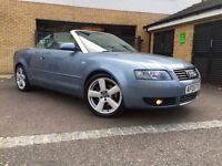 AUDI A4 3.0 S LINE CONVERTIBLE QUATROO IMUCALATE CONDITION IN AND OUT 220BHP AUTO TIPTRONIC SPORT
