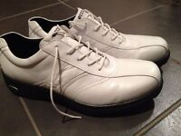 Brand New Ecco Flexor Hydromax Leather Mens Golf Shoes (White Size UK 11)