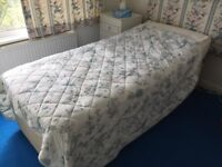 Adjustable single electric bed with mattress