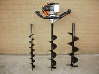 52cc Earth Auger fence post stake hedge sapling hole borer drill - spade digger shovel