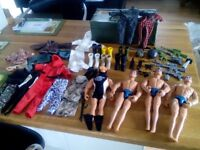 Action man figures and clothes