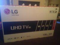 Still boxed LG 43 inch TV
