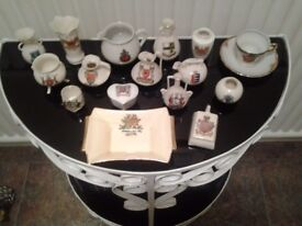 Mixed collection of 16 Miniature Crested Ware-See Description For Condition-Proceeds To Charity