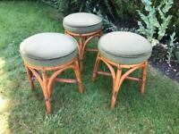 3 upholstered stools