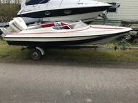 15ft Speed Boat with 115hp Outboard and Trailer.