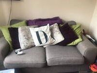 2 grey 2 seater sofas