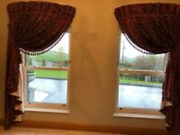 Handmade interlined curtains